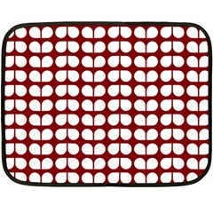 Red And White Leaf Pattern Mini Fleece Blanket (two Sided) by creativemom