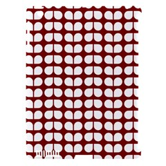 Red And White Leaf Pattern Apple Ipad 3/4 Hardshell Case (compatible With Smart Cover) by creativemom