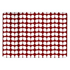 Red And White Leaf Pattern Samsung Galaxy Tab 10 1  P7500 Flip Case by creativemom