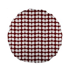 Red And White Leaf Pattern 15  Premium Flano Round Cushion  by creativemom