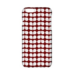 Red And White Leaf Pattern Apple Iphone 6 Hardshell Case by creativemom
