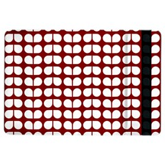 Red And White Leaf Pattern Apple Ipad Air 2 Flip Case by creativemom