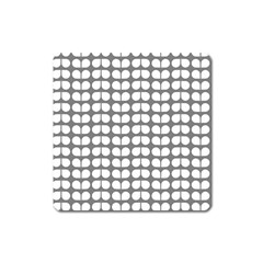 Gray And White Leaf Pattern Magnet (square) by creativemom