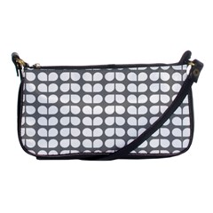 Gray And White Leaf Pattern Evening Bag by creativemom