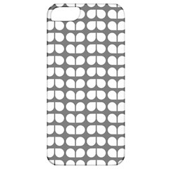 Gray And White Leaf Pattern Apple Iphone 5 Classic Hardshell Case by creativemom
