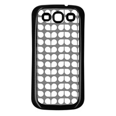 Gray And White Leaf Pattern Samsung Galaxy S3 Back Case (black) by creativemom