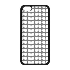 Gray And White Leaf Pattern Apple Iphone 5c Seamless Case (black) by creativemom