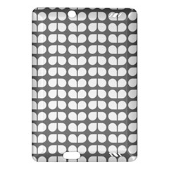 Gray And White Leaf Pattern Kindle Fire Hd (2013) Hardshell Case by creativemom