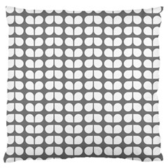 Gray And White Leaf Pattern Standard Flano Cushion Case (one Side) by creativemom