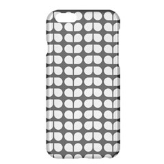Gray And White Leaf Pattern Apple Iphone 6 Plus Hardshell Case by creativemom
