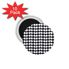 Black And White Leaf Pattern 1 75  Button Magnet (10 Pack) by creativemom