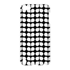 Black And White Leaf Pattern Apple Ipod Touch 5 Hardshell Case by creativemom