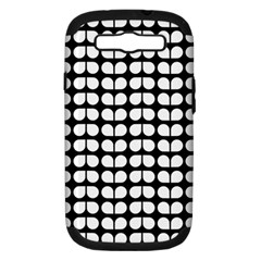 Black And White Leaf Pattern Samsung Galaxy S Iii Hardshell Case (pc+silicone) by creativemom