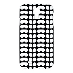 Black And White Leaf Pattern Samsung Galaxy S4 I9500/i9505 Hardshell Case by creativemom
