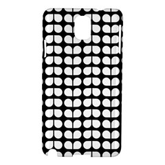 Black And White Leaf Pattern Samsung Galaxy Note 3 N9005 Hardshell Case by creativemom