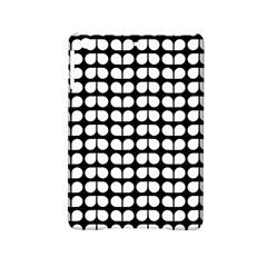Black And White Leaf Pattern Apple Ipad Mini 2 Hardshell Case by creativemom