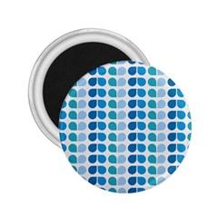 Blue Green Leaf Pattern 2 25  Button Magnet by creativemom