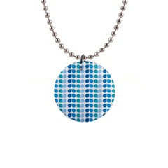 Blue Green Leaf Pattern Button Necklace by creativemom