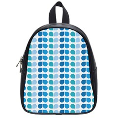 Blue Green Leaf Pattern School Bag (small) by creativemom