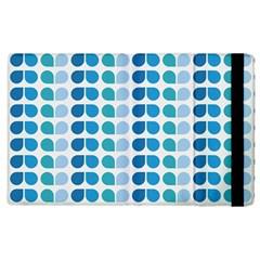 Blue Green Leaf Pattern Apple Ipad 3/4 Flip Case by creativemom
