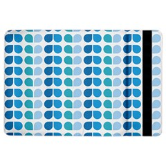 Blue Green Leaf Pattern Apple Ipad Air 2 Flip Case by creativemom