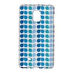 Blue Green Leaf Pattern Samsung Galaxy Note Edge Hardshell Case by creativemom