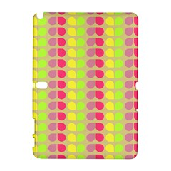 Colorful Leaf Pattern Samsung Galaxy Note 10 1 (p600) Hardshell Case by creativemom