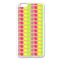 Colorful Leaf Pattern Apple Iphone 6 Plus Enamel White Case by creativemom
