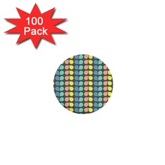 Colorful Leaf Pattern 1  Mini Button (100 Pack) by creativemom