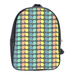 Colorful Leaf Pattern School Bag (xl) by creativemom