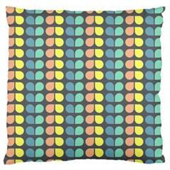 Colorful Leaf Pattern Standard Flano Cushion Case (one Side) by creativemom