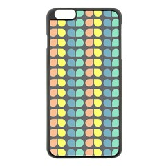 Colorful Leaf Pattern Apple iPhone 6 Plus Black Enamel Case