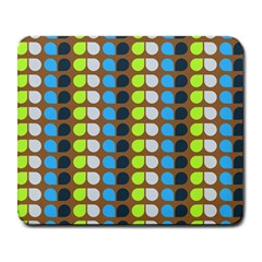 Colorful Leaf Pattern Large Mouse Pad (rectangle) by creativemom