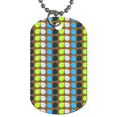 Colorful Leaf Pattern Dog Tag (two Sided)  by creativemom
