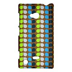 Colorful Leaf Pattern Nokia Lumia 720 Hardshell Case by creativemom