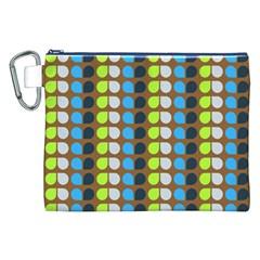 Colorful Leaf Pattern Canvas Cosmetic Bag (xxl) by creativemom
