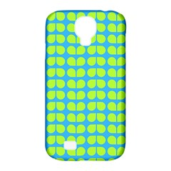 Blue Lime Leaf Pattern Samsung Galaxy S4 Classic Hardshell Case (pc+silicone) by creativemom