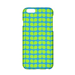 Blue Lime Leaf Pattern Apple Iphone 6 Hardshell Case by creativemom