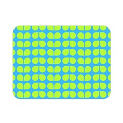 Blue Lime Leaf Pattern Double Sided Flano Blanket (mini) by creativemom