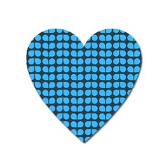 Blue Gray Leaf Pattern Magnet (heart) by creativemom