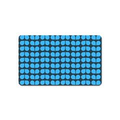 Blue Gray Leaf Pattern Magnet (name Card) by creativemom