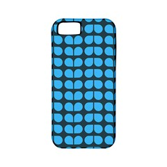 Blue Gray Leaf Pattern Apple Iphone 5 Classic Hardshell Case (pc+silicone) by creativemom