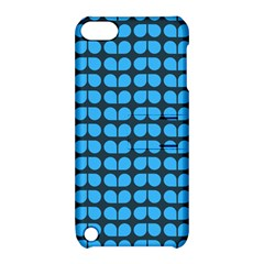 Blue Gray Leaf Pattern Apple Ipod Touch 5 Hardshell Case With Stand by creativemom