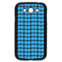 Blue Gray Leaf Pattern Samsung Galaxy Grand Duos I9082 Case (black) by creativemom