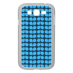 Blue Gray Leaf Pattern Samsung Galaxy Grand Duos I9082 Case (white) by creativemom