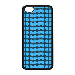 Blue Gray Leaf Pattern Apple Iphone 5c Seamless Case (black) by creativemom