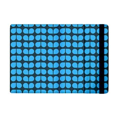 Blue Gray Leaf Pattern Apple Ipad Mini 2 Flip Case