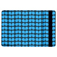 Blue Gray Leaf Pattern Apple Ipad Air 2 Flip Case by creativemom