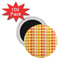 Colorful Leaf Pattern 1 75  Button Magnet (100 Pack) by creativemom
