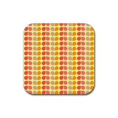 Colorful Leaf Pattern Drink Coaster (square) by creativemom
